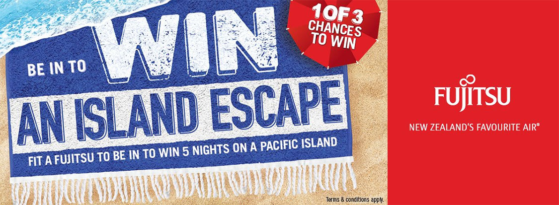 Win an island escape with Fujitsu and Kiwi Airconditioning